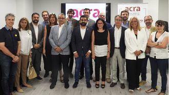 Visita del conseller El Homrani a ACRA