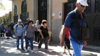 Mayores de viaje por Madrid.