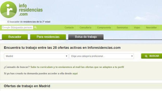 Bolsa de Trabajo del portal de Inforesidencias.com