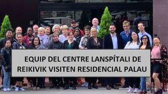 Un grupo de islandeses visita el Residencial Palau.