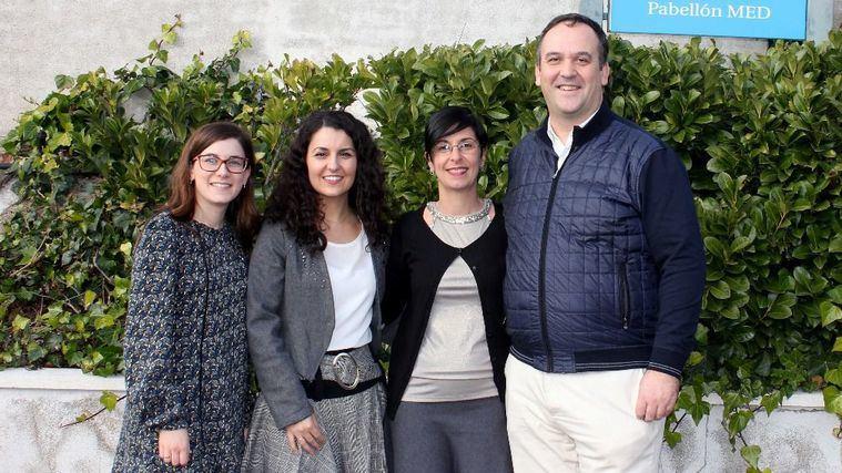 Gema Pérez Rojo, Cristina Noriega, Cristina Velasco y Javier López.