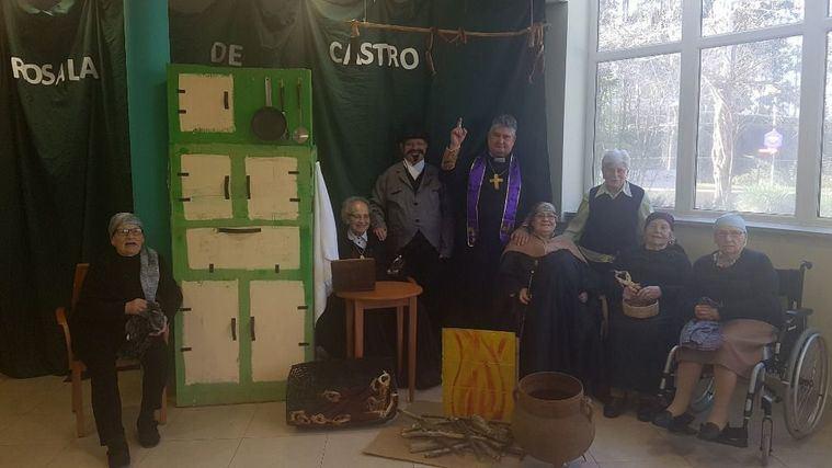 Mayores de la residencia DomusVi Coruña.
