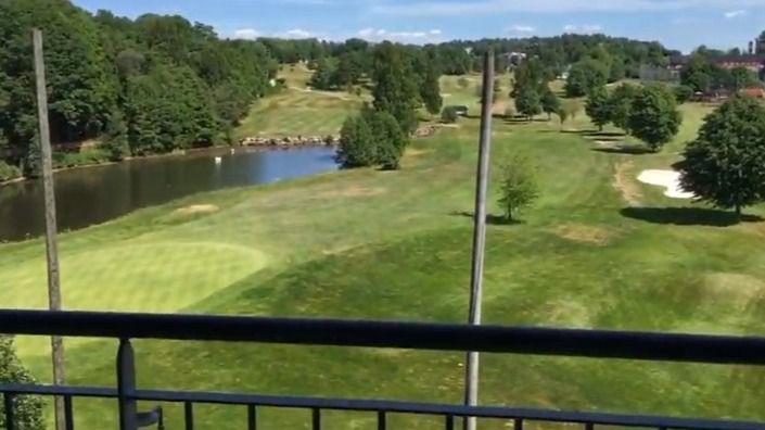 Una residencia en Noruega para amantes del golf.