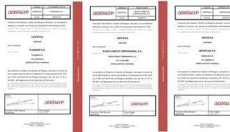 Certificados de prevención de riesgos laborales