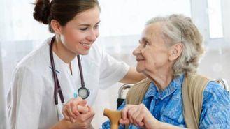 Enfermera geriátrica.