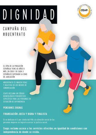 Cartel de CEAPs sobre la dignidad de las personas mayores
