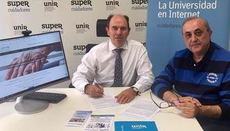 Aurelio López-Barajas, CEO de SUPERCUIDADORES, y Luis Ángel López Menéndez, presidente de SPRODE