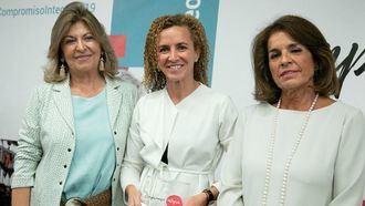 La directora de Recursos Humanos de Amavir, Marian Bautista; la presidenta ejecutiva de la Fundación Integra, Ana Botella, y la concejala del Ayuntamiento de Madrid, Engracia Hidalgo.