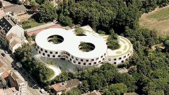 Residencia en Ostende, Bélgica, con forma de 8