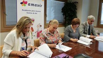 Firma con los sindicatos del Plan de Igualdad de Amavir.