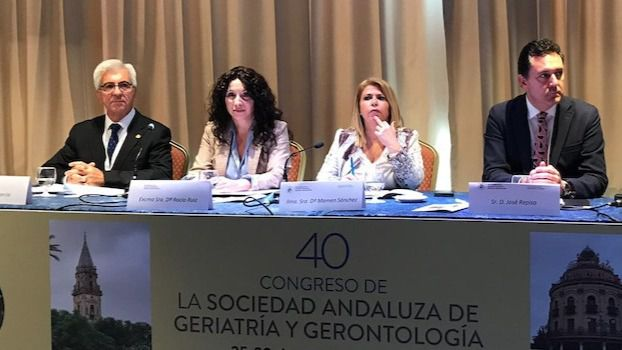 La consejera Rocío Ruiz participó en Jerez en la inauguración del 40 Congreso de la Sociedad Andaluza de Geriatría y Gerontología.