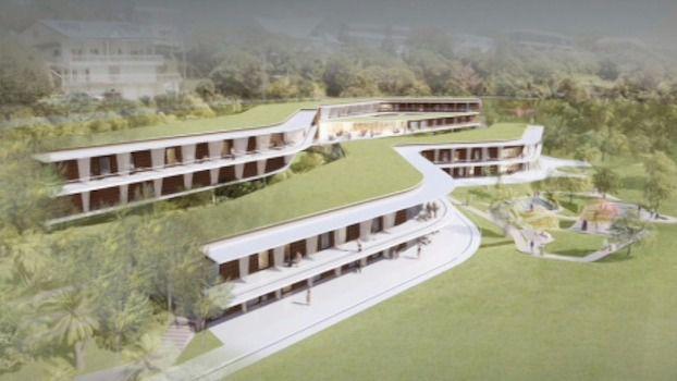 Arquitectura y Residencias: Un centro en las antípodas totalmente integrado en el terreno