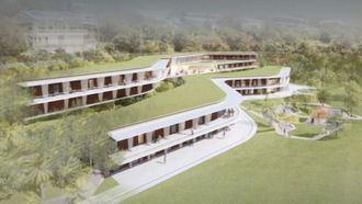 Una residencia integrada en el terreno en Nueva Caledonia