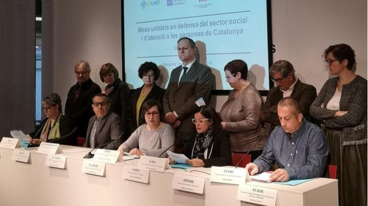 Nace la Mesa unitaria en defensa del sector social y de atención a las personas de Cataluña
