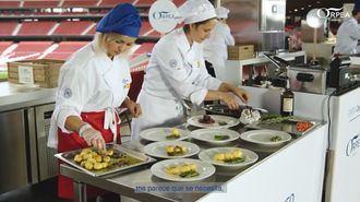 Participantes del concurso de cocina ORPEA