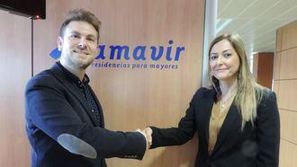 Firma de un convenio de colaboración entre Sermade y Amavir