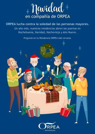 ORPEA abre sus centros para combatir la soledad no deseada en Navidad en las personas mayores.