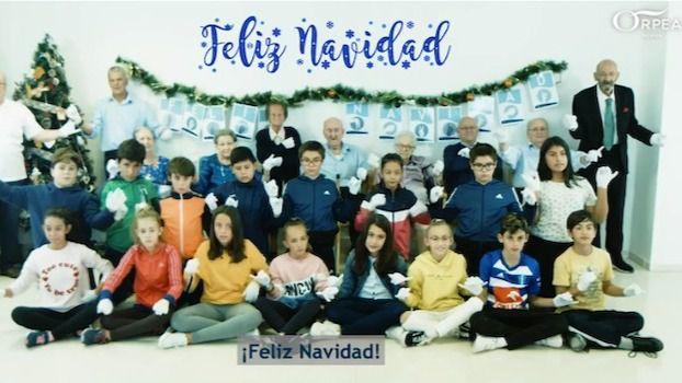Visto en la red: Niños y mayores protagonizan la felicitación de Navidad de ORPEA a través del lenguaje de signos