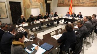 Reunión de la Mesa Unitaria con los dirigentes de la Generalitat.