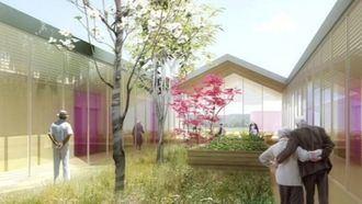 Un proyecto de residencia en forma de comunidad para 56 residentes en Dordoña, Francia.