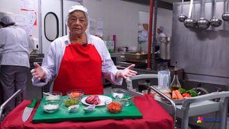 María Sánchez cocina rabo de toro.