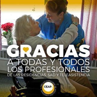 CEAPs da las gracias a todos los profesionales de las residencias, sad y teleasistencia.