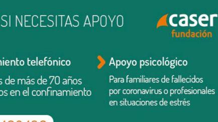 Fundación Caser presenta nuevos Servicios de Acompañamiento Telefónico y Apoyo Psicológico