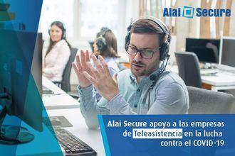 Alai Secure aporta su granito de arena en la lucha contra el Covid19 facilitando las llamadas de seguimiento de los técnicos de Teleasistencia en remoto desde sus domicilios particulares.