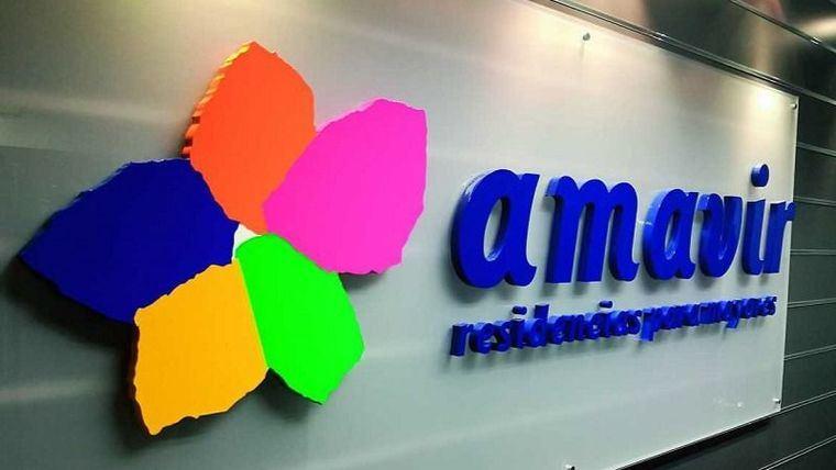 Logo de Amavir.