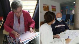 Mayores del Grupo Albertia participan en la campaña Escribe una carta a nuestros mayores.