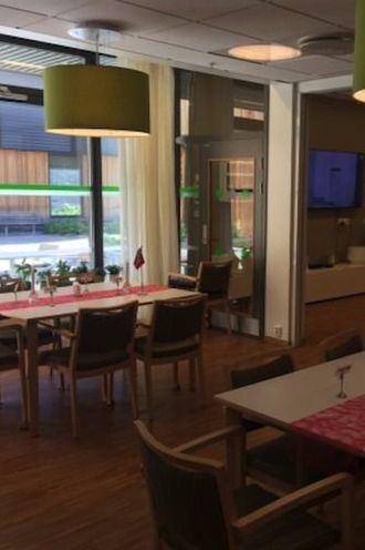 Unidad de convivencia para 12 personas en la residencia Gunhella en Oslo, Noruega.