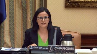 La presidenta de CEAPs, Cinta Pascual, en el Congreso de los Diputados.