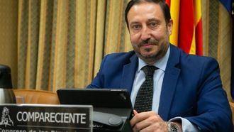 El secretario general de AESTE, Jesús Cubero, en la Comisión de Reconstrucción el Congreso de los Diputados.