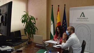 La consejera de Igualdad, Políticas Sociales y Conciliación, Rocío Ruiz, interviene por videoconferencia.