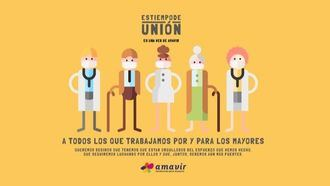 Amavir pone en valor el compromiso del sector frente a la pandemia de coronavirus en su campaña 'Es tiempo de unión'.