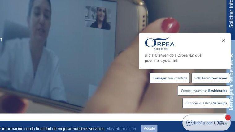 ORPEA lanza un servicio de chat en su web para ofrecer soluciones personalizadas y facilitar la navegación.