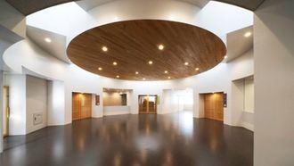 Zonas circulares a partir de las cuales se sitúan de forma radial las 4 unidades en la residencia Mutsu, Japón.