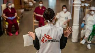Actuación de Médicos sin Fronteras en residencias.