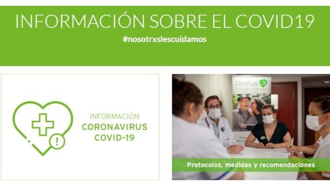 DomusVi lanza un espacio online con información actualizada sobre Covid-19 y cuidado seguro