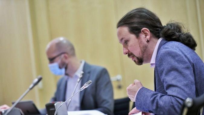 El secretario de Estado de Derechos Sociales, Nacho Álvarez, junto al vicepresidente segundo y ministro de Derechos Sociales y Agenda 2030, Pablo Iglesias.
