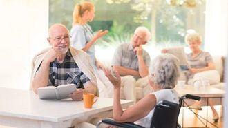Una residencia de personas mayores.