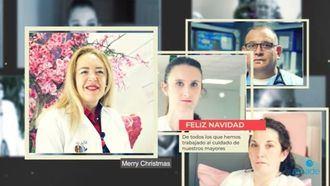 AMADE felicita la Navidad con un vídeo en el que reconoce el trabajo de todos los profesionales de las residencias.