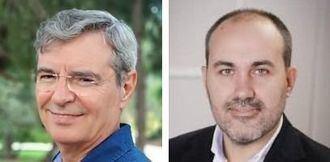 José Pascual, presidente Asociación Dignitas Vitae, y Sergio Cañellas, director de la residencia San Francisco y San Vicente de Manises-Valencia.