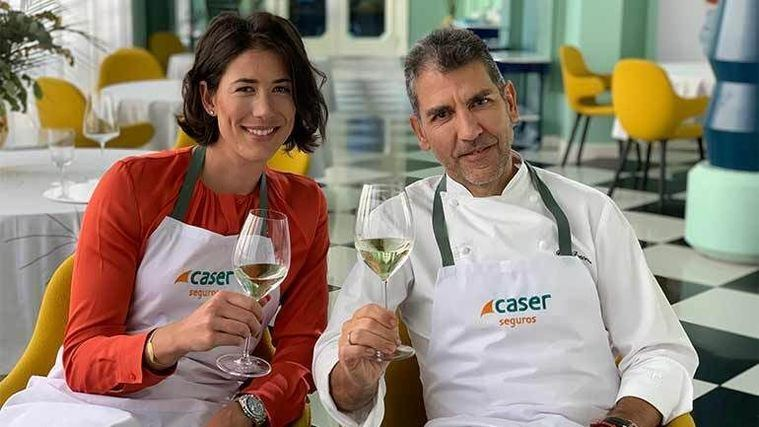 Garbiñe Muguruza y Paco Roncero, uno de los máximos representantes de la cocina de vanguardia española.