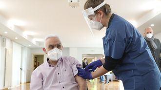 Primer vacunado en Navarra.