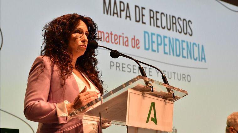 La consejera Rocío Ruiz presenta el Mapa de la Dependencia en Andalucía.