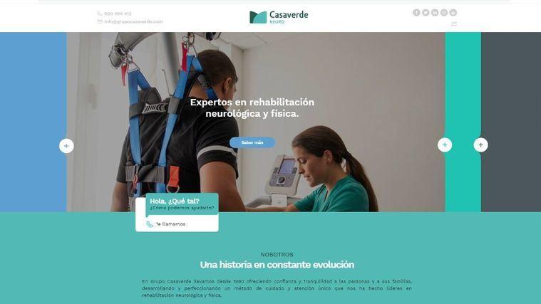 Grupo Casaverde lanza dos nuevas webs centradas en mayores y tratamientos de rehabilitación