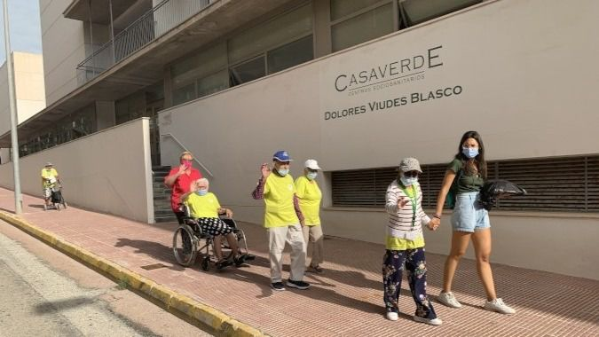 Residentes del centro Casaverde Gaurdamar.