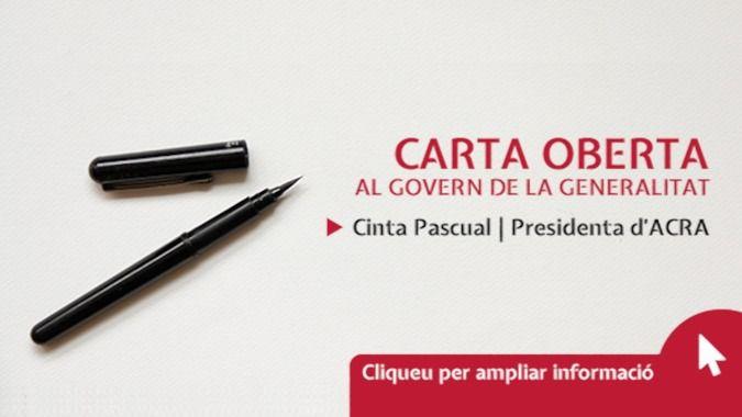 ACRA firma una carta abierta dirigida al nuevo Gobierno de la Generalitat