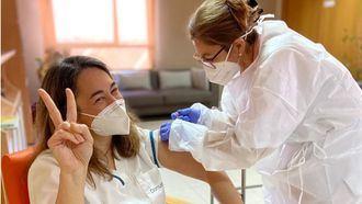 Vacunación en un centro DomusVi.